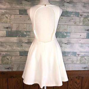 Lulu's Dresses - Lulu's skater dress white keyhole back       0185